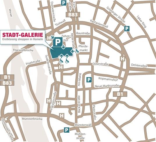 Anfahrt Modernes Center In Der Altstadt